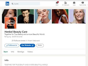 beauty care linkedIn showcase page